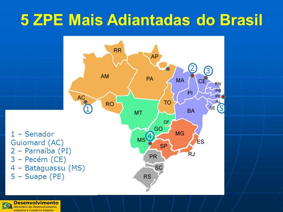 5 ZPE Mais Adiantadas do Brasil