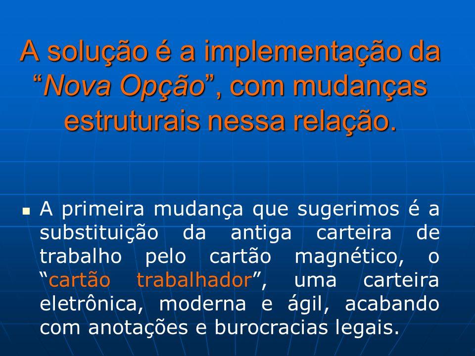 A solução é a implementação da Nova Opção , com mudanças estruturais nessa relação.