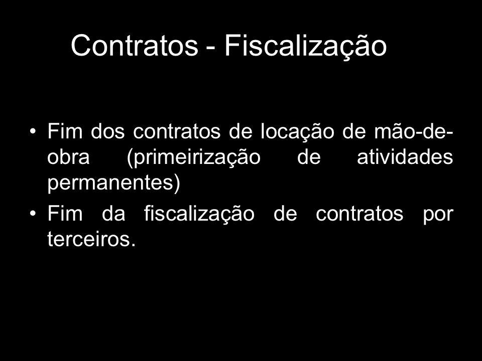 Contratos - Fiscalização