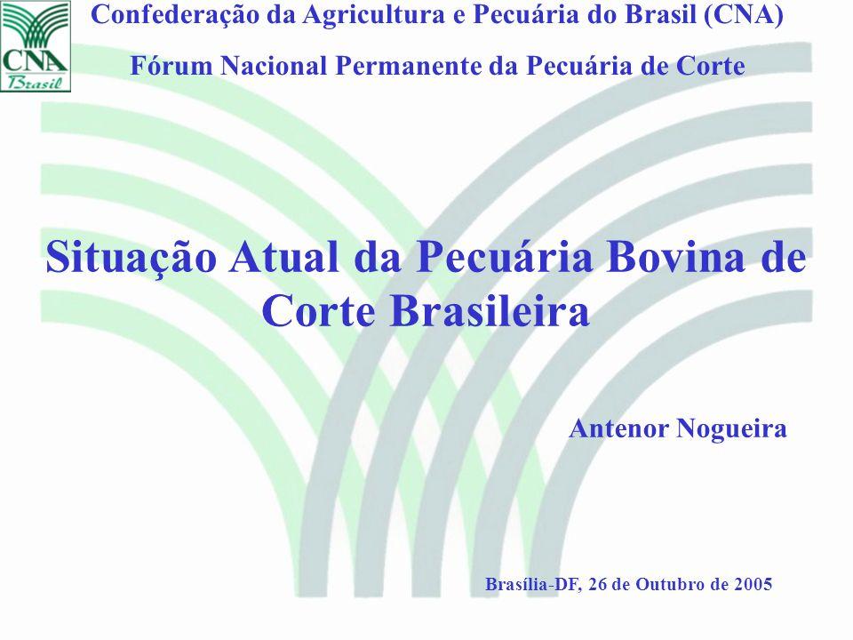 Situação Atual da Pecuária Bovina de Corte Brasileira