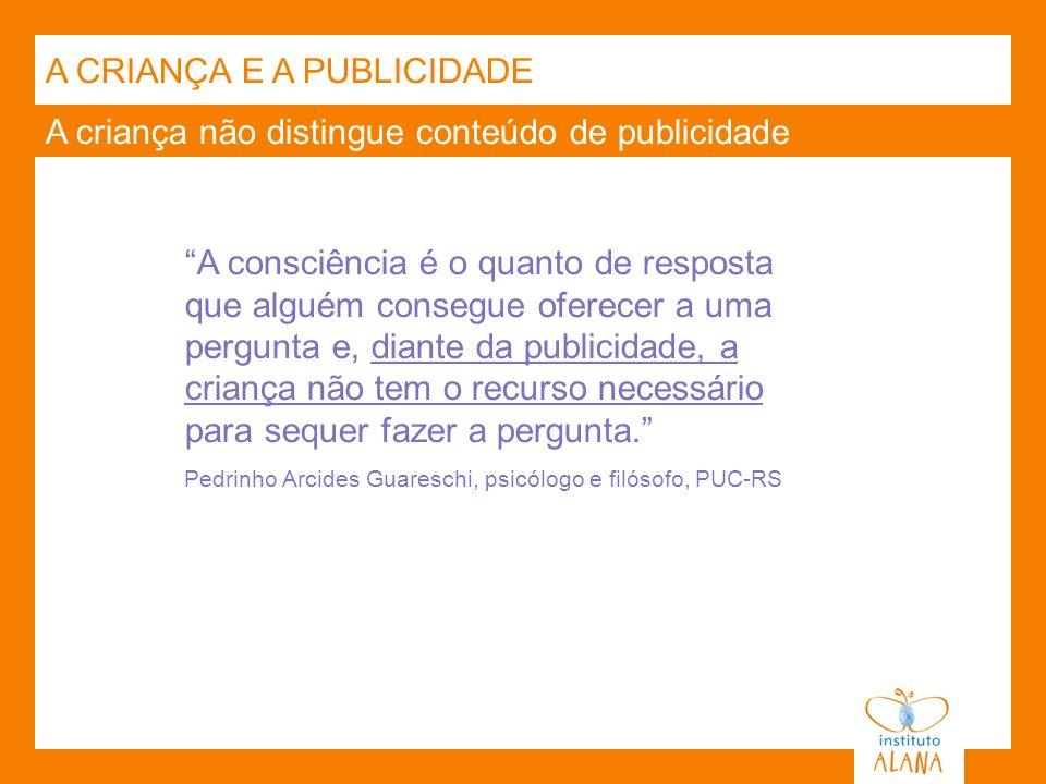 A CRIANÇA E A PUBLICIDADE