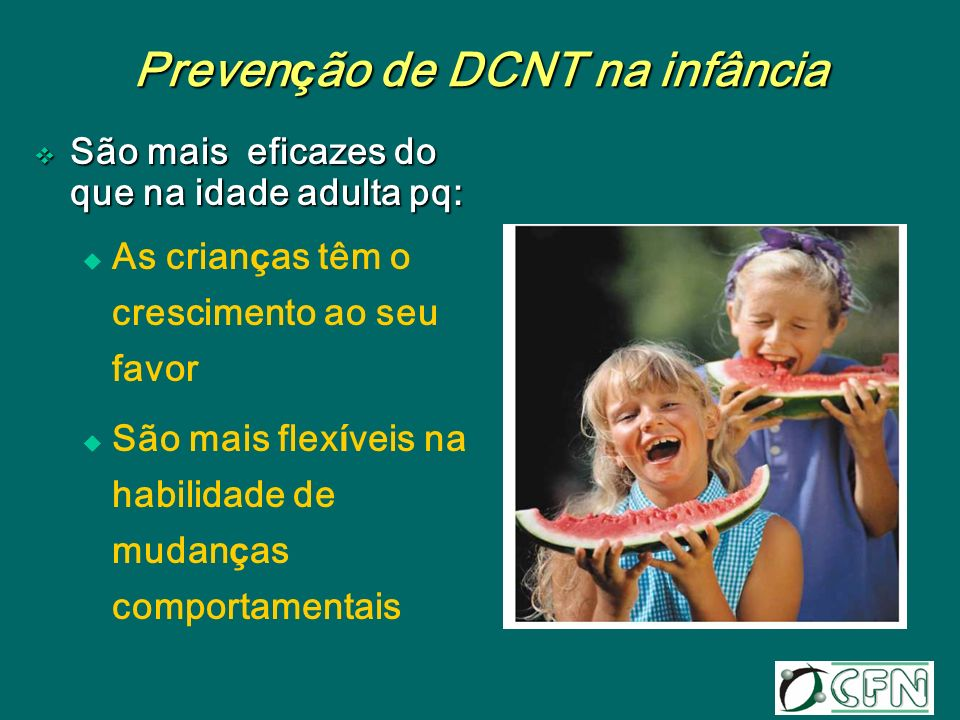 Prevenção de DCNT na infância