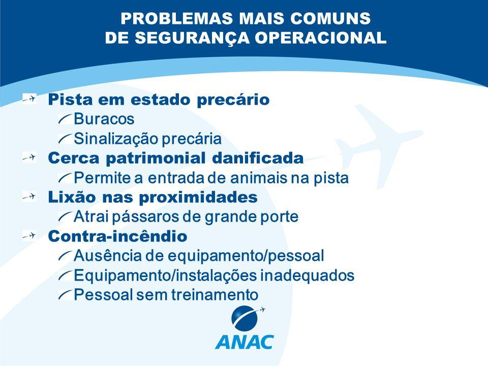 PROBLEMAS MAIS COMUNS DE SEGURANÇA OPERACIONAL