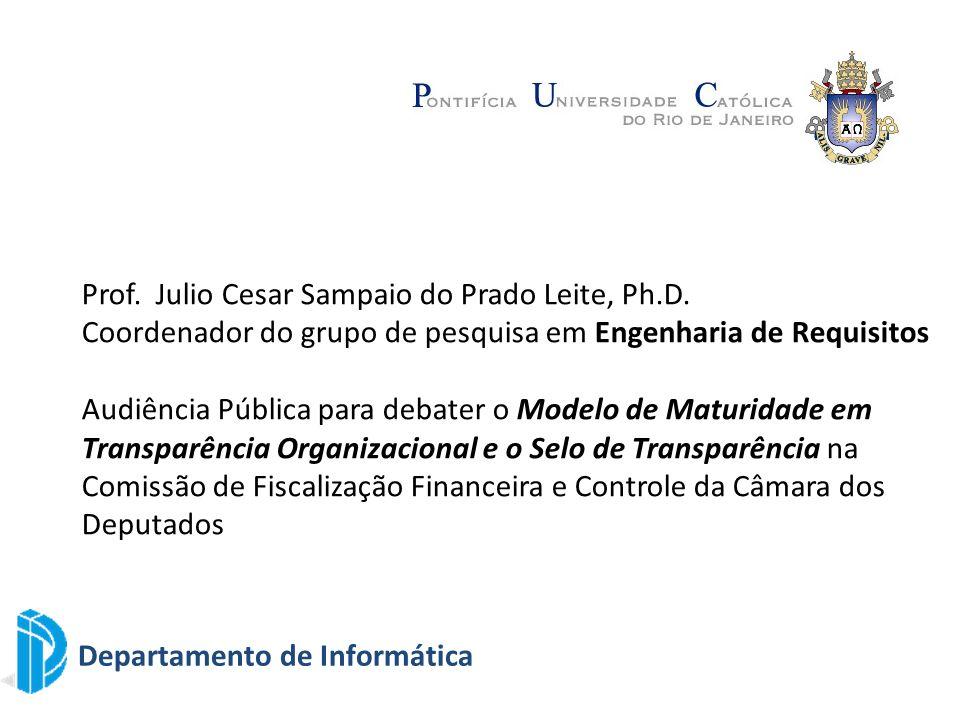 Prof. Julio Cesar Sampaio do Prado Leite, Ph.D.