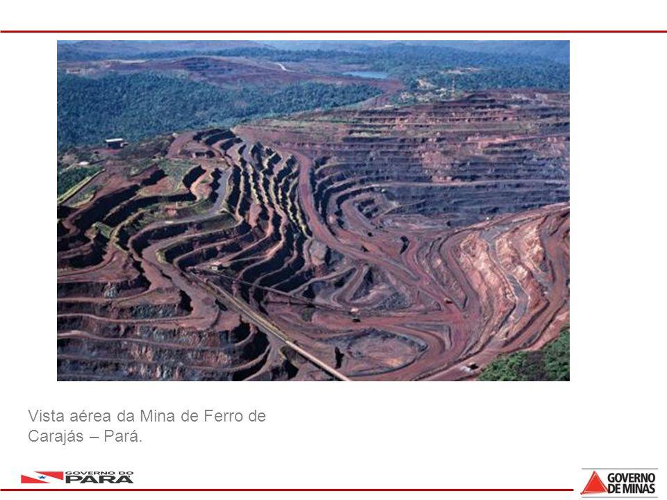 Vista aérea da Mina de Ferro de Carajás – Pará.