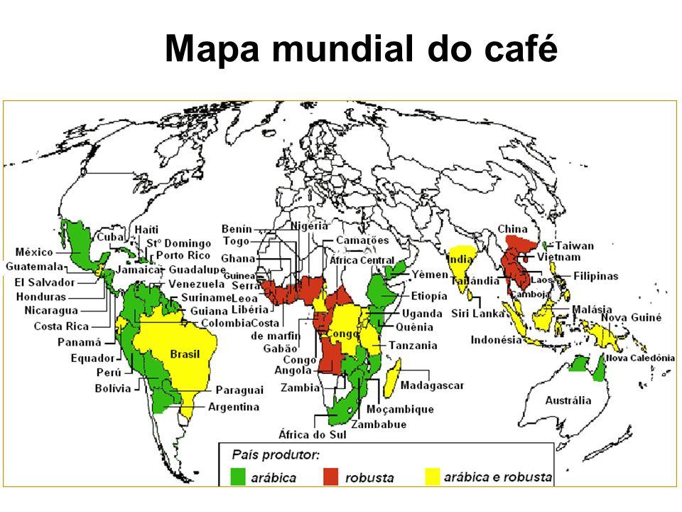 Mapa mundial do café