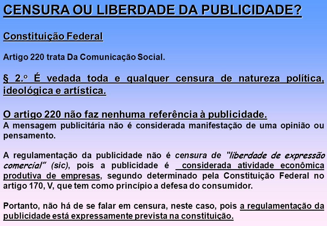 CENSURA OU LIBERDADE DA PUBLICIDADE