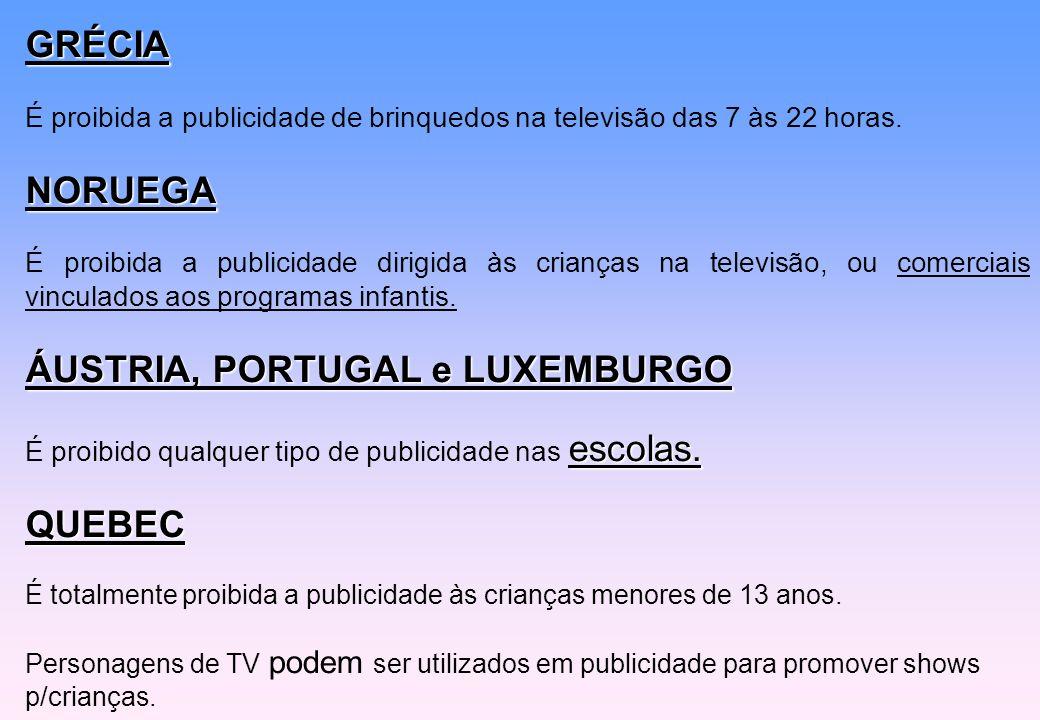 ÁUSTRIA, PORTUGAL e LUXEMBURGO