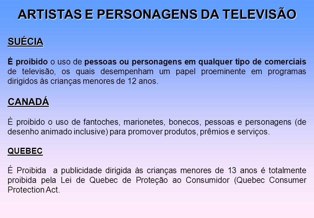 ARTISTAS E PERSONAGENS DA TELEVISÃO