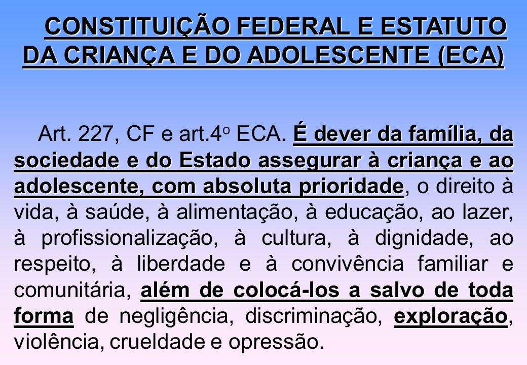 CONSTITUIÇÃO FEDERAL E ESTATUTO DA CRIANÇA E DO ADOLESCENTE (ECA)