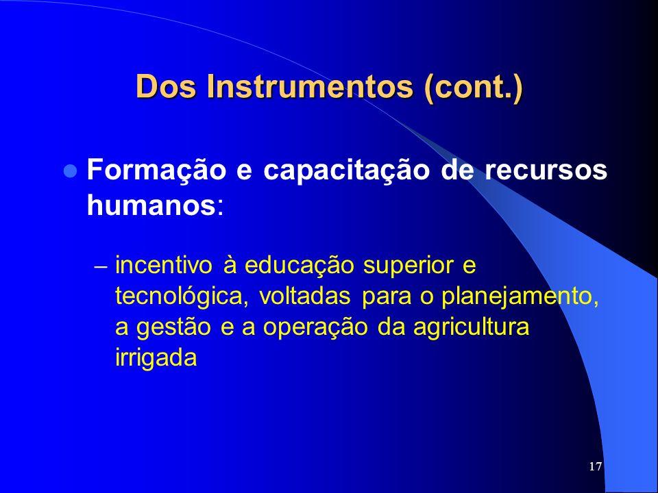 Dos Instrumentos (cont.)