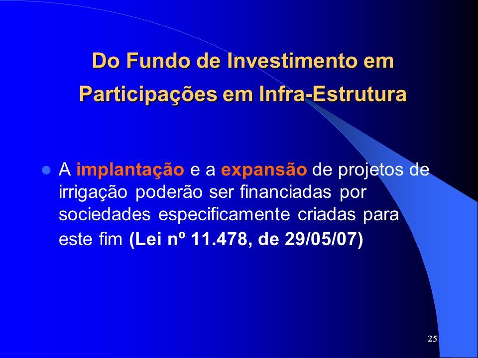 Do Fundo de Investimento em Participações em Infra-Estrutura