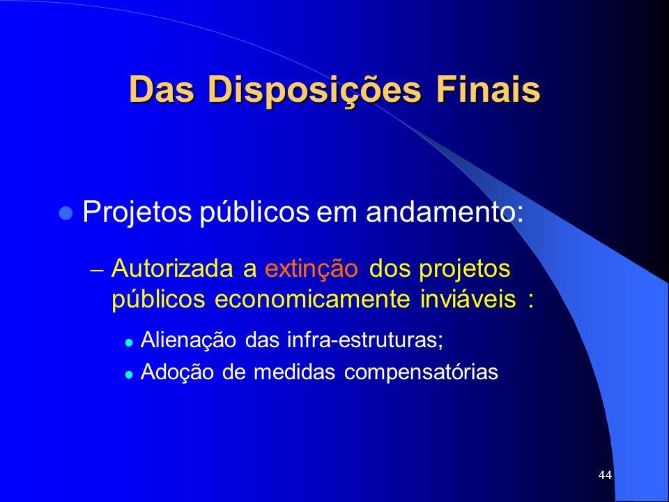 Das Disposições Finais