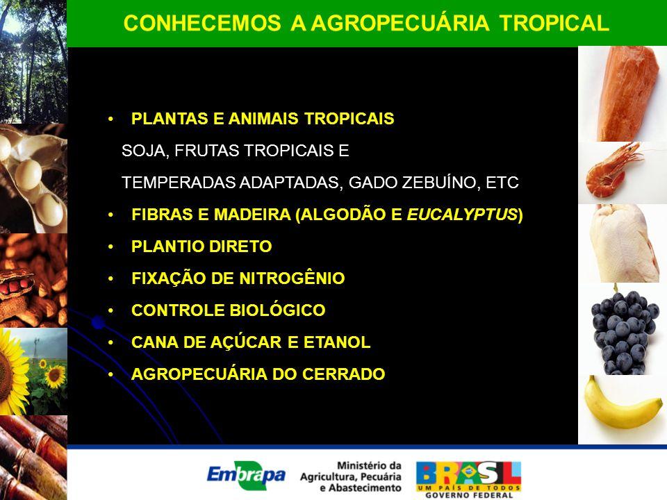CONHECEMOS A AGROPECUÁRIA TROPICAL