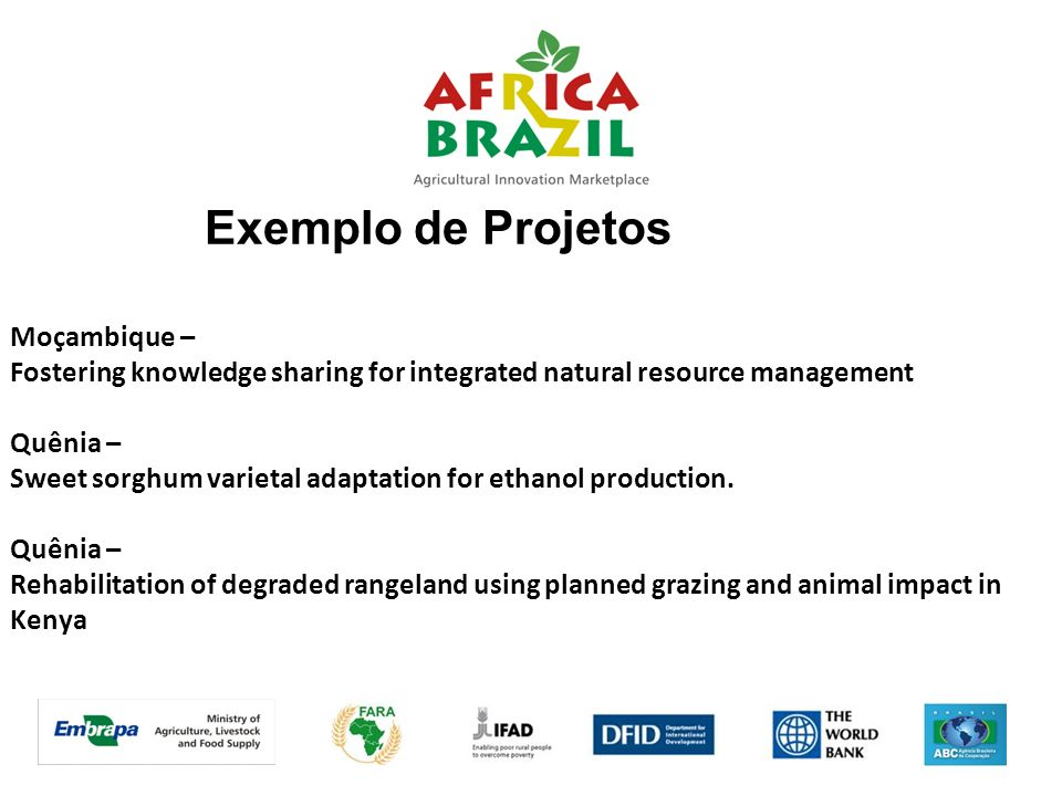 Exemplo de Projetos Moçambique –