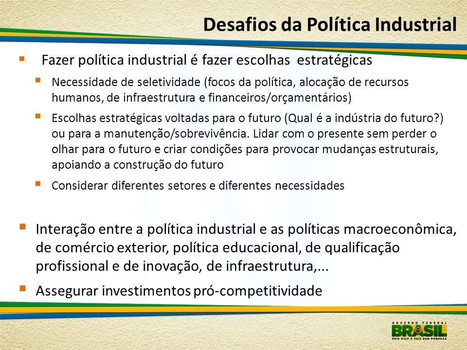 Desafios da Política Industrial