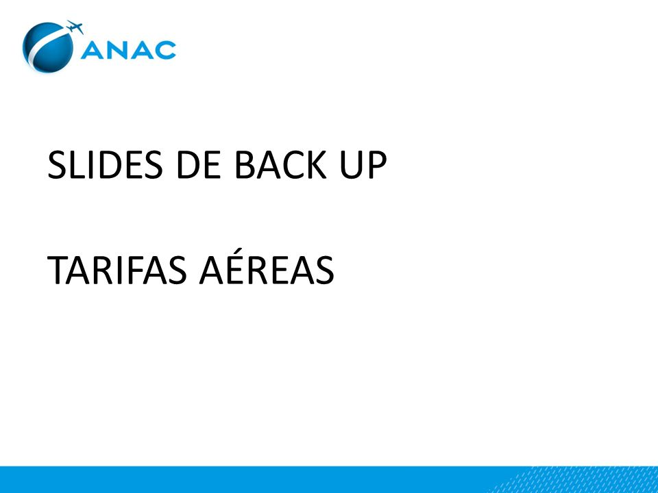SLIDES DE BACK UP TARIFAS AÉREAS
