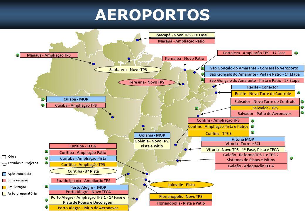 AEROPORTOS Macapá - Novo TPS - 1ª Fase Macapá - Ampliação Pátio