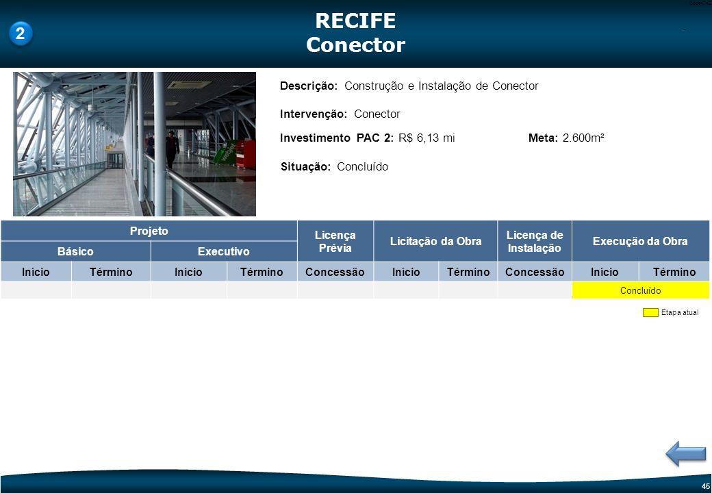 RECIFE Conector 2 Descrição: Construção e Instalação de Conector