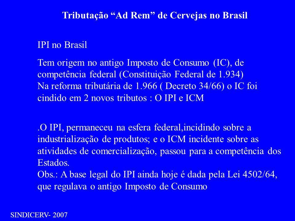 Tributação Ad Rem de Cervejas no Brasil