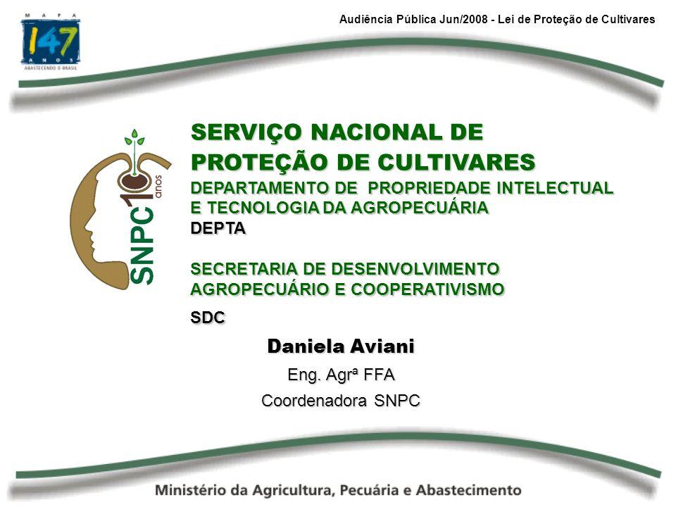 SERVIÇO NACIONAL DE PROTEÇÃO DE CULTIVARES
