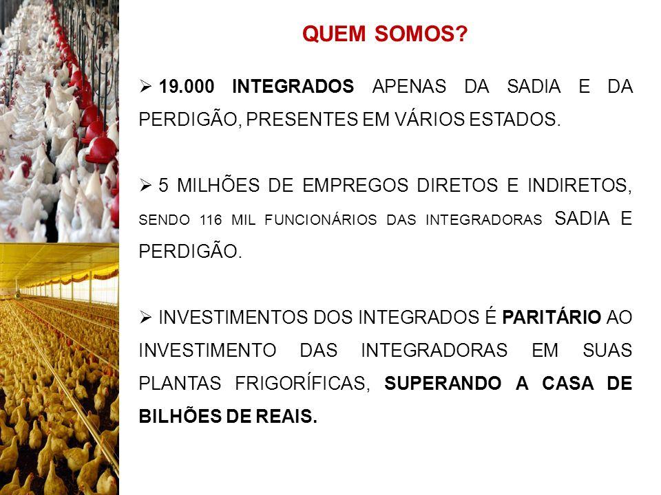 25/08/09 QUEM SOMOS 19.000 INTEGRADOS APENAS DA SADIA E DA PERDIGÃO, PRESENTES EM VÁRIOS ESTADOS.