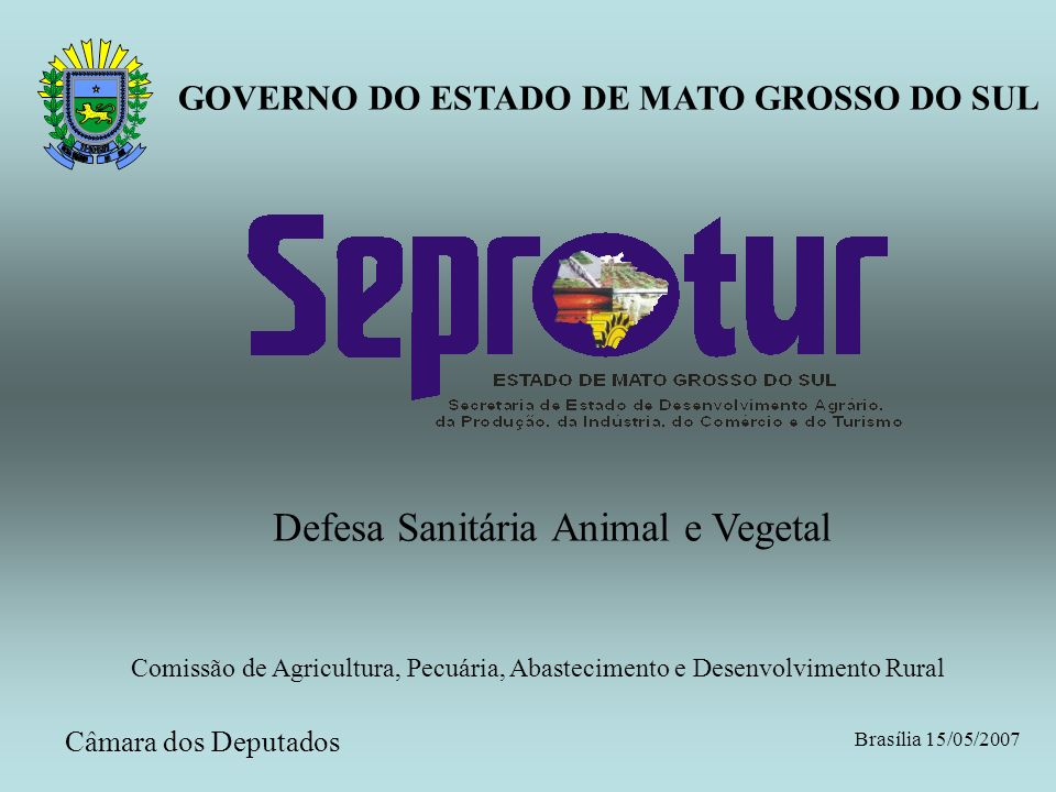 Defesa Sanitária Animal e Vegetal