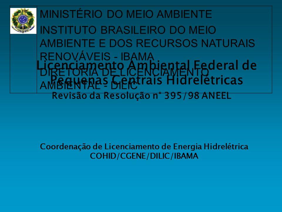 Licenciamento Ambiental Federal de Pequenas Centrais Hidrelétricas