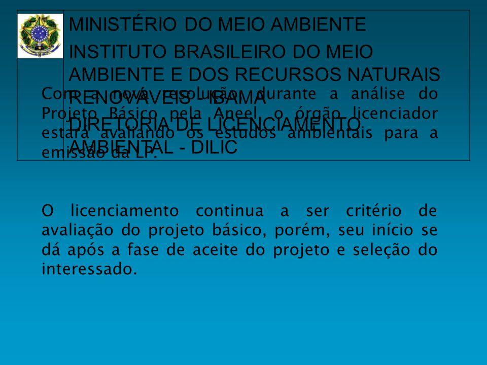 Com a nova resolução, durante a análise do Projeto Básico pela Aneel, o órgão licenciador estará avaliando os estudos ambientais para a emissão da LP.