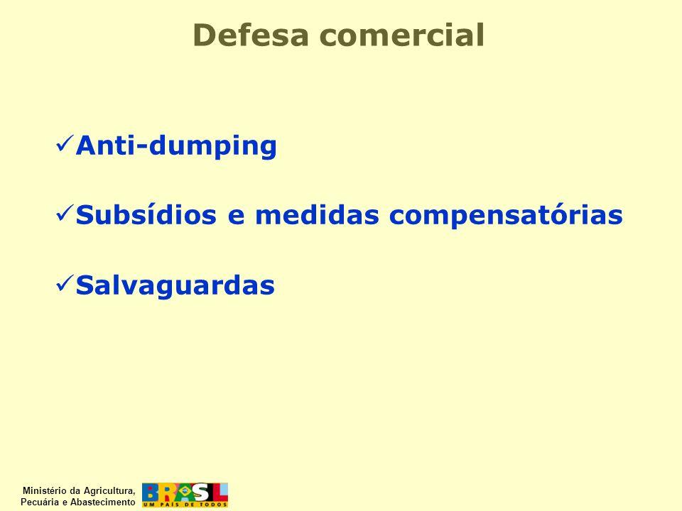 Defesa comercial Anti-dumping Subsídios e medidas compensatórias