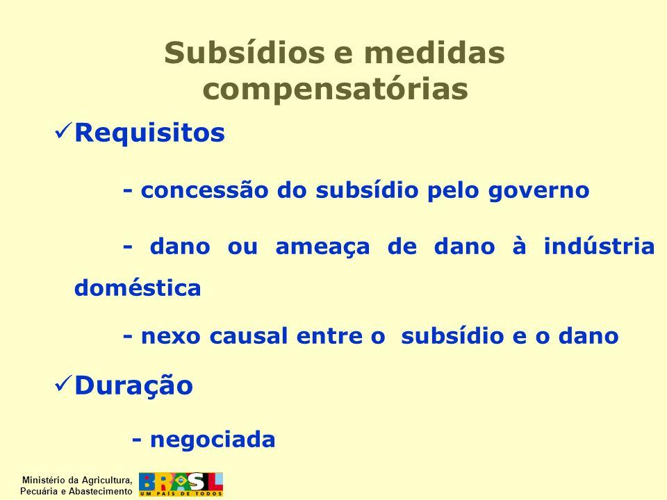 Subsídios e medidas compensatórias