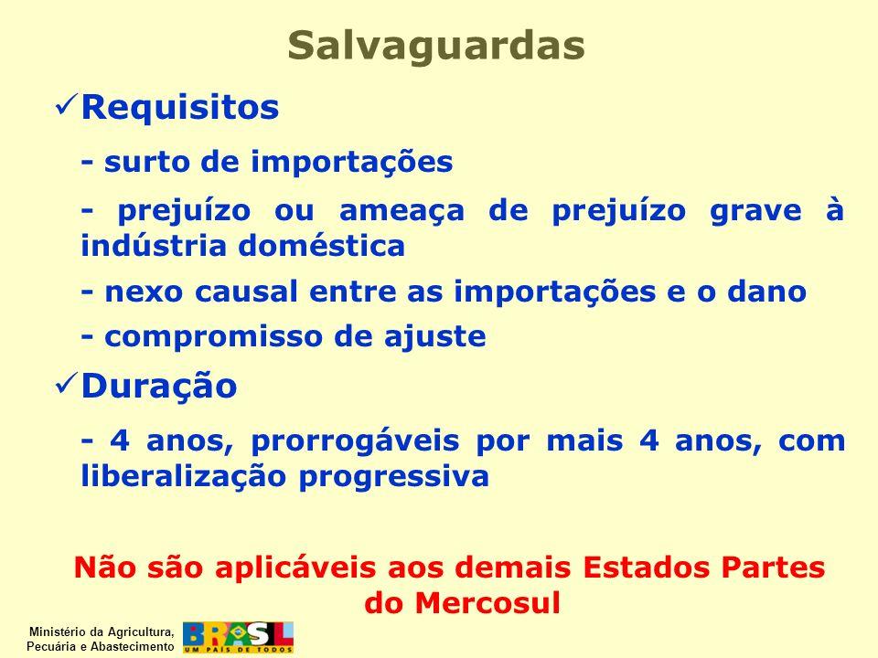 Não são aplicáveis aos demais Estados Partes do Mercosul