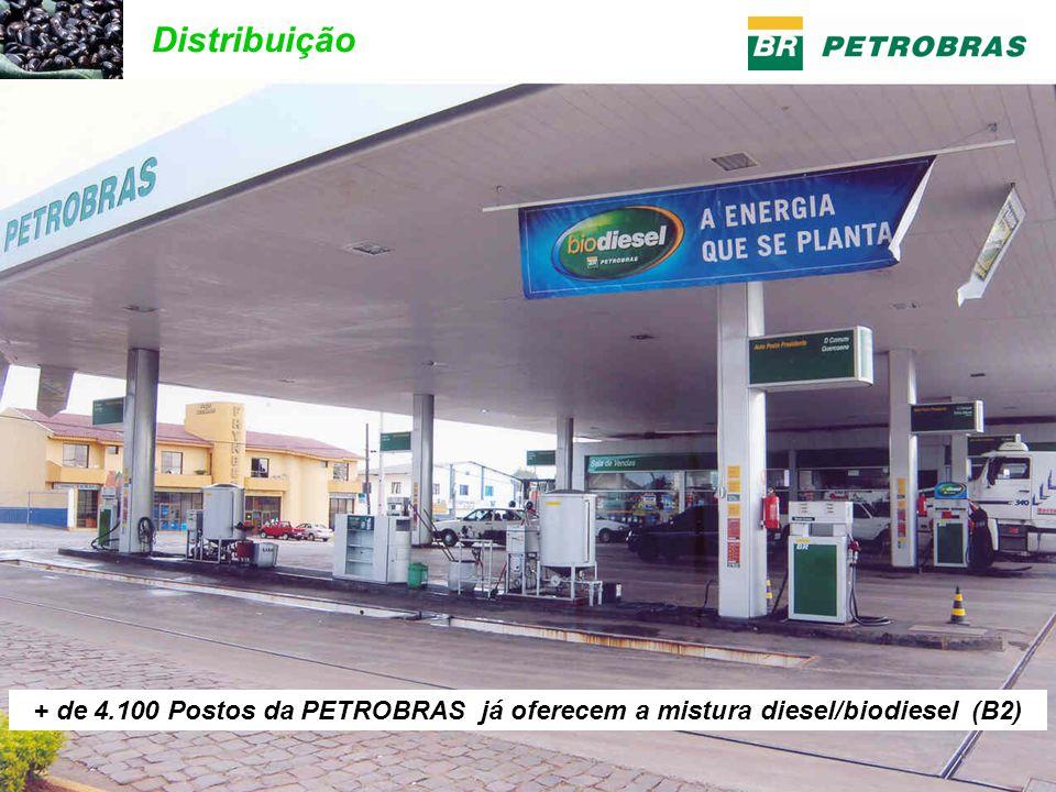 Distribuição + de 4.100 Postos da PETROBRAS já oferecem a mistura diesel/biodiesel (B2)