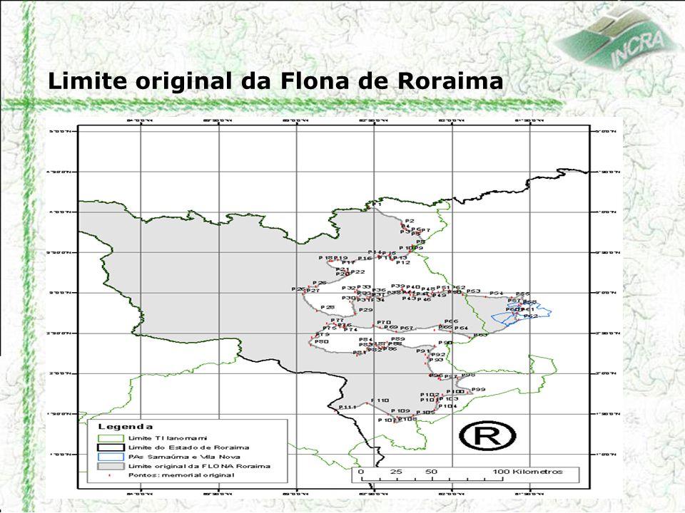 Limite original da Flona de Roraima