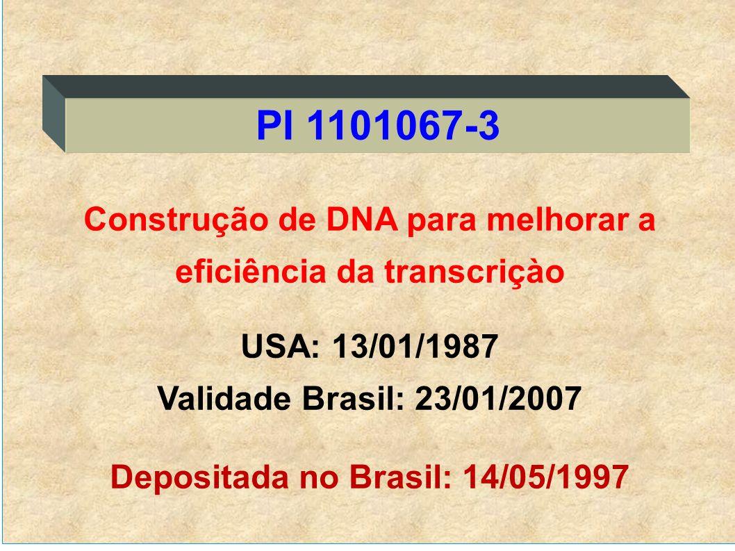 PI 1101067-3 Construção de DNA para melhorar a