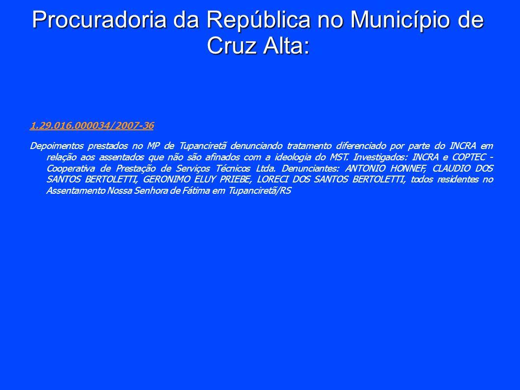 Procuradoria da República no Município de Cruz Alta: