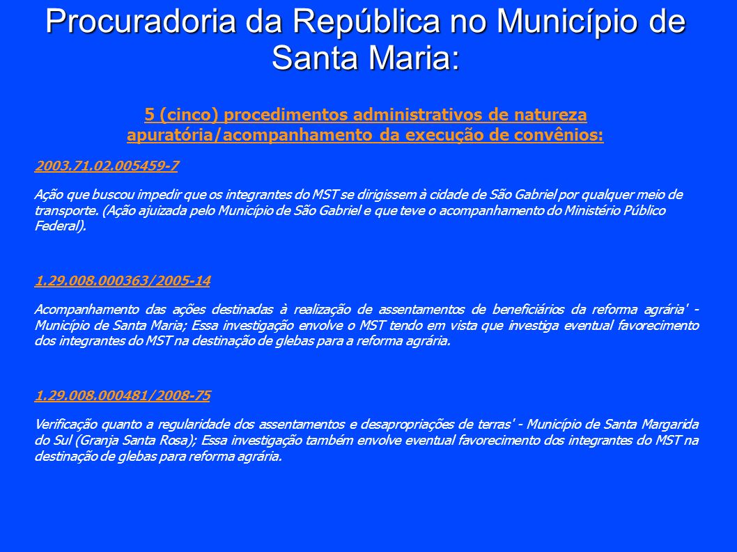 Procuradoria da República no Município de Santa Maria: