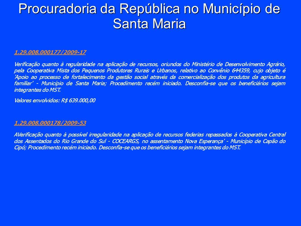 Procuradoria da República no Município de Santa Maria