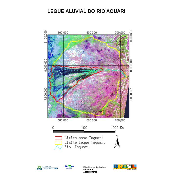 LEQUE ALUVIAL DO RIO AQUARI