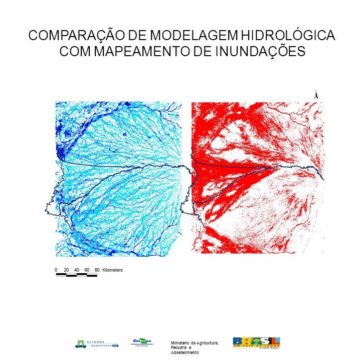 COMPARAÇÃO DE MODELAGEM HIDROLÓGICA COM MAPEAMENTO DE INUNDAÇÕES
