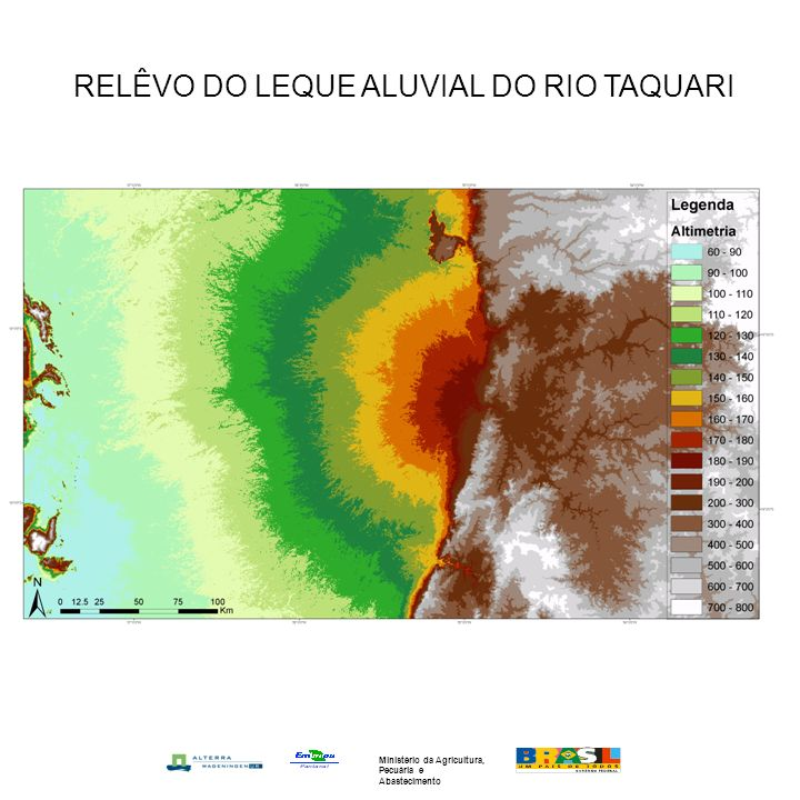 RELÊVO DO LEQUE ALUVIAL DO RIO TAQUARI