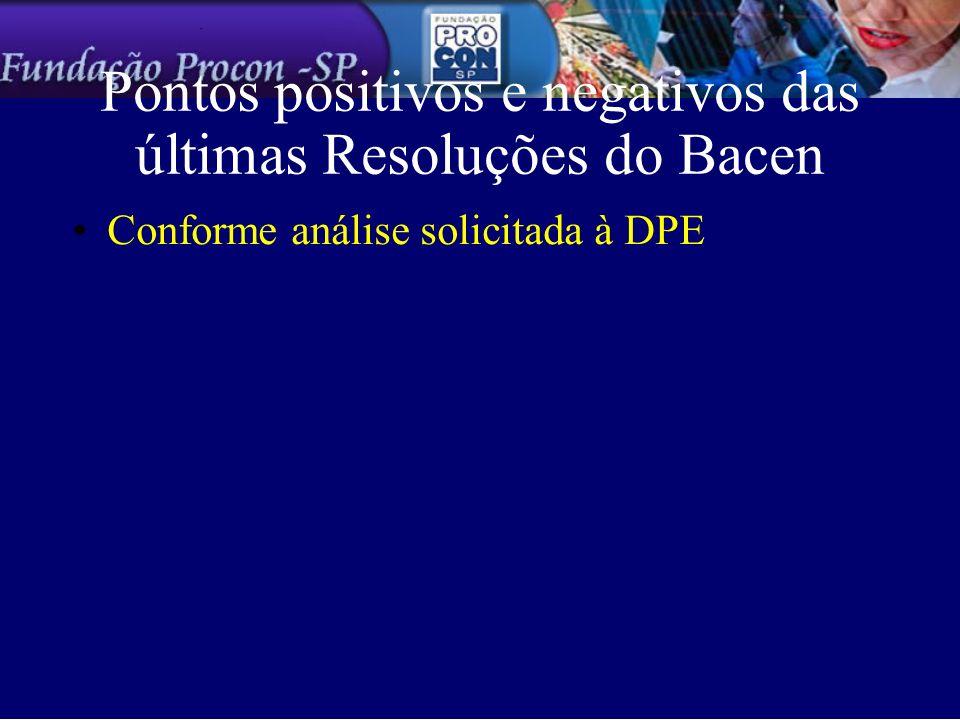 Pontos positivos e negativos das últimas Resoluções do Bacen