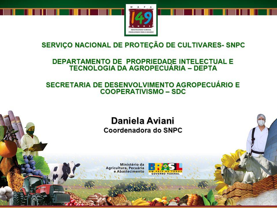 SECRETARIA DE DESENVOLVIMENTO AGROPECUÁRIO E COOPERATIVISMO – SDC