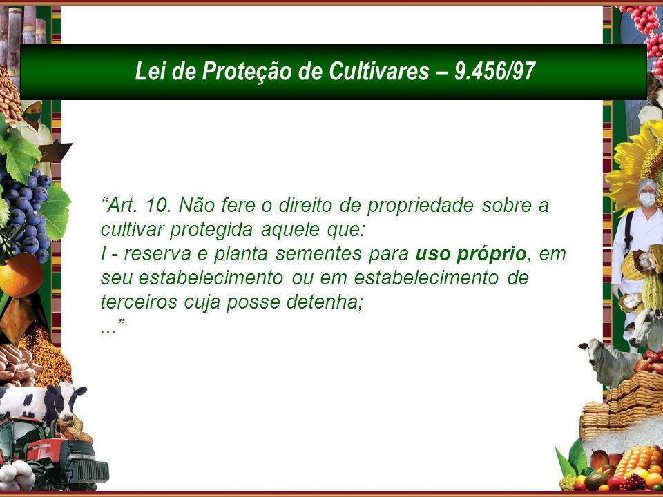 Lei de Proteção de Cultivares – 9.456/97