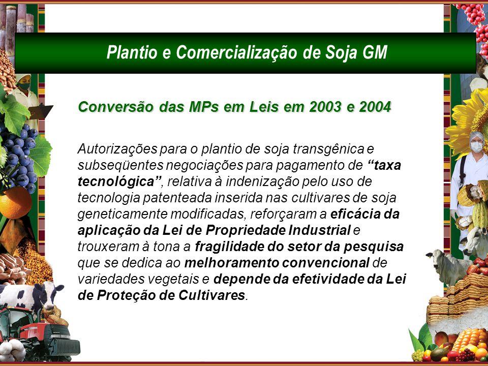 Plantio e Comercialização de Soja GM