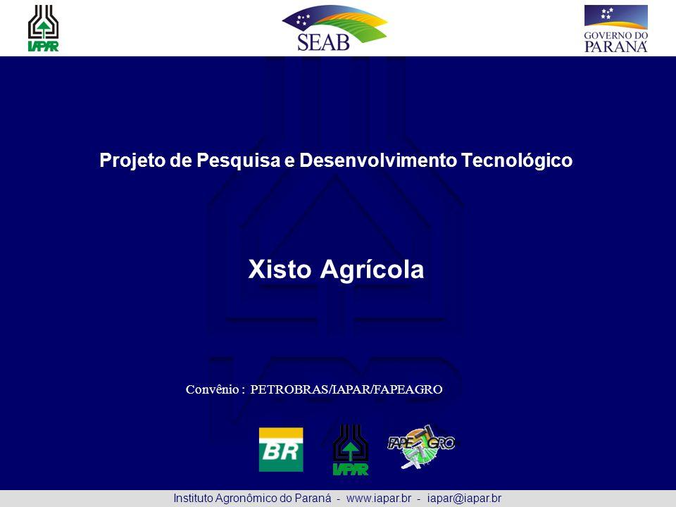 Projeto de Pesquisa e Desenvolvimento Tecnológico Xisto Agrícola