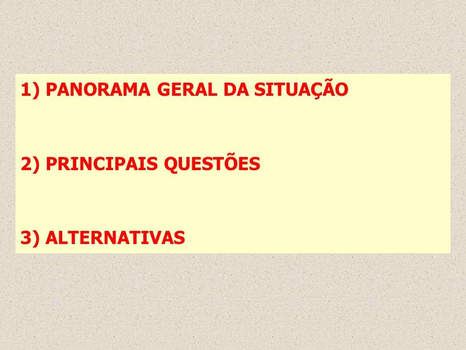 1) PANORAMA GERAL DA SITUAÇÃO