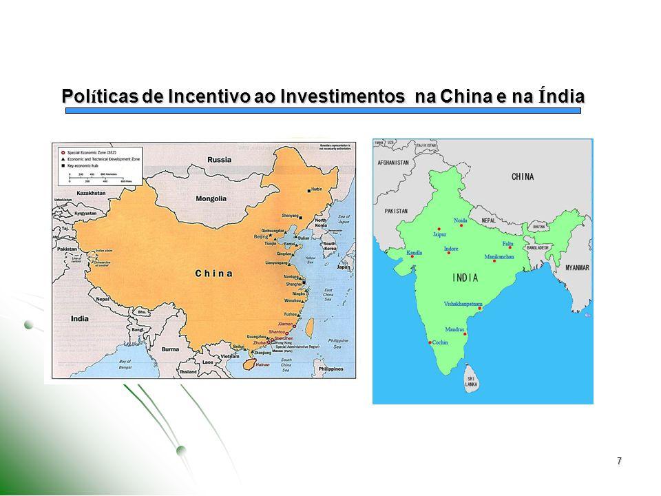 Políticas de Incentivo ao Investimentos na China e na Índia