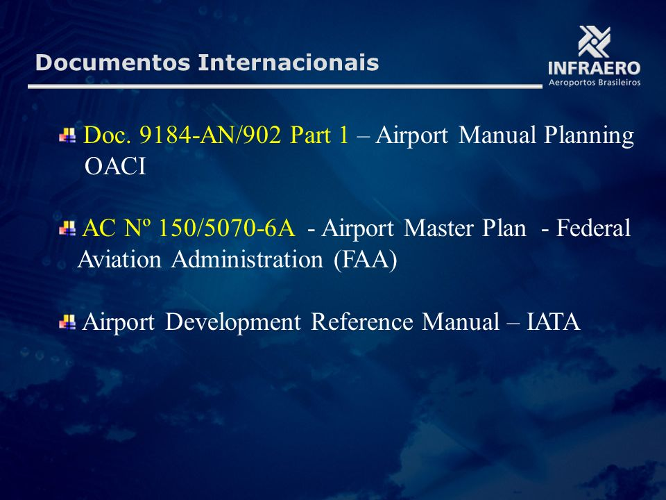 Doc. 9184-AN/902 Part 1 – Airport Manual Planning OACI