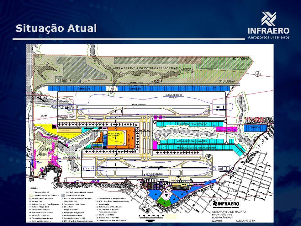 Situação Atual Caso seja incluído o Aeroporto de Zona da Mata – MG, o total de aeroportos é 68